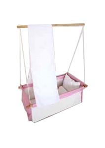Babyhängematte Hängenest pink-weiß (Foto; Amazon) - HIER kaufen!