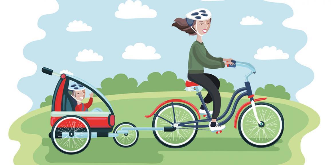 Kinderfahrradanhänger – Das Baby bequem mit dem Fahrrad mitnehmen